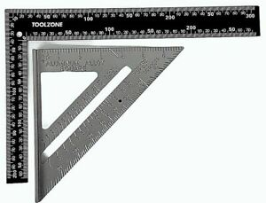 """ROOFING RAFTER SET SQUARE 300mm x150mm 7"""" SPEED SQUARE ALLOY RAFTER GUIDE METAL"""