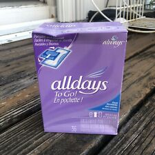 Vtg Allways Alldays To Go Pantiliners Feminine Pads Napkins Unscented 36 Liners