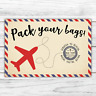 *PERSONALISED* SURPRISE holiday BIRTHDAY gift TRAVEL plane SCRATCH CARD