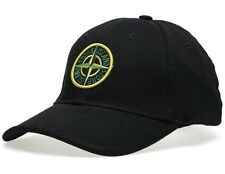 SALE BRAND NEW Stone Island BLACK HAT YELLOW BADGE baseball cap