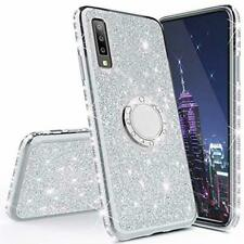 HMTECHUS Case for Galaxy A20 Glitter Bling Diamond Luxury Plating Silicon TPU So