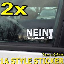 NEIN NIX VERKAUFEN 2x Autoaufkleber nix verkauf Aufkleber NIX VERKAUFEN