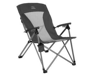 Highlander BALVENIE Recliner Camping Chair Charcoal FUR099 Festival Caravan