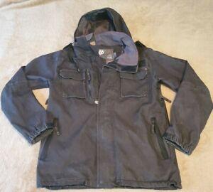 686 by Michael Akira West Mens LARGE Gray Snowboard Ski Jacket vented w/ hood
