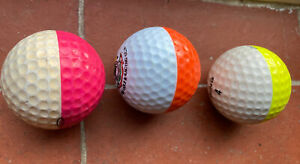 Ping Eye Golf Balls Trio Pink Orange Yellow Rare Vintage Lot Ping2