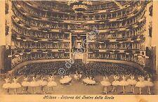 Cartolina Milano Scala Interno Balletto 1910