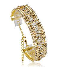 Splendido Bracciale Donna con cristallo placcato in oro 14k Festa Di Nozze