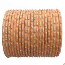 21 Piece Peach & Silver Glitter Bangles - Size 2.6