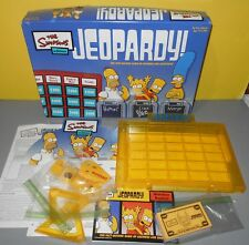 The Simpsons Jeopardy Game by Pressman 2003 Edition 100% Complete Family Fun
