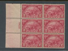 1924 US Postage Stamp #615 Mint Never Hinged Very Fine Plate No 15746 Block of 6