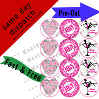 12X EDIBLE HEN PARTY NIGHT BRIDE TO BE PRECUT ROUND 4.5CM CUPCAKE PAPER RICE UK