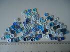 102 x Vintage BLUE BUTTONS