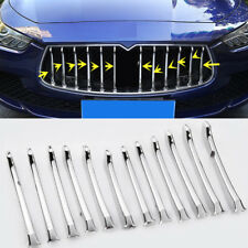12PCS ABS Chromed Front Grille Decorative trim Cover for Maserati Ghibli 2013-17