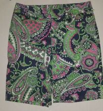 Lilly Pulitzer Chipper Shorts Size 2 Bermuda 100% Cotton multicolor paisley