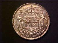 1946 CANADA SILVER 50 CENTS - GORGEOUS CHOICE AU/UNC COLLECTOR COIN! -d689dsut1