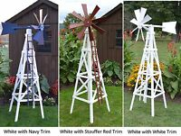 Amish-Made Wooden Farm Windmill Yard Decoration - Available in 19 Finishes!