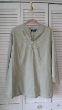 Mileage  Plus size 2X cotton seafoam green top w/ great detail made in India