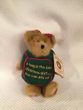 """BOYDS BEAR 8"""" Huggles #904366 CHRISTMAS GIFT Head Bean Collection with Tags"""