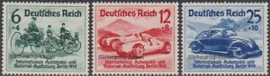 SET Germany 1939 Nurburgring Races & Hitler's Culture Fund 6pf-25pf MH Stamps