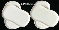"Creations Melamine 4 Platter White 13.25"" x 7.25"" Panera Carlisle 5300980 Stadia"