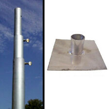 Coates Heavy Duty 3 Section 12' Telescoping Pole Pmhd12 And Base Plate Pmbp01