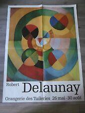 DELAUNAY Robert Très grande affiche originale 76 Abstrait Orphisme Cubisme RARE