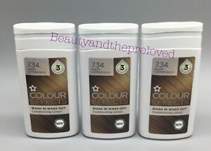 Superdrug Colour Effects Wash In Wash Out Hair Colour Warm Copper Gold 7.34 x 3