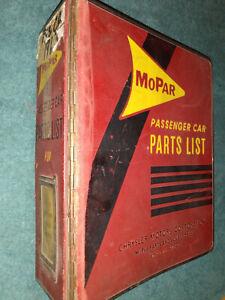 1963 DODGE PLYMOUTH CHRYSLER IMPERIAL PARTS CATALOG / ORIGINAL MOPAR PARTS BOOK