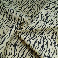 Polycotton Fabric Animal Print Tiger, Zebra, Leopard & Cow