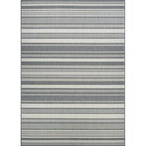 Couristan Recife Gazebo Stripe Champagne & Grey Indoor/Outdoor Rug