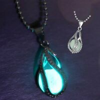 Fashion Charm The Little Mermaid's Teardrop Glow in Dark Pendant Necklace Women