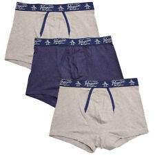 Original Penguin Men's 3 Pack Solid Grey Navy Grey Trunks (S03)