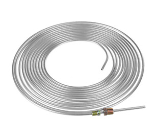 Galvanized Brake Line Tubing Kit 3/16 OD 25ft Coil Roll with 16 Assort Fittings
