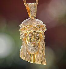 Men's Large Size Iced Out Hip Hop Jesus Piece Necklace