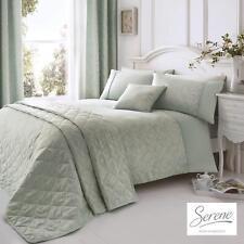 Serene Ebony Jacquard Easy Care Duvet Cover Bedroom Range Duck Egg