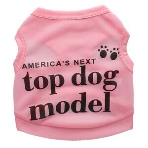 Cute Teacup Dog Clothes Girl Dog T shirt Pet Puppy Vest for Chihuahua yorkie Dog