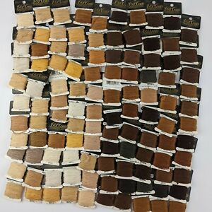 Lot of 100 Brown Tan Skeins J & P Coats Embroidery Floss Thread on Cards ALL NEW