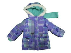 OshKosh B' gosh Baby Girls Size 2T Full Zip Hooded Jacket, Purple/Multi