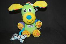 "Lamaze Puppy Dog Green Activity Rattle Crinkle 7"" Plush Stuffed Animal Lovey Toy"