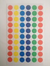 B1G1F 60x8mm DOT COLOURED CIRCLE CODE STICKY PLANNER LABELS SELF ADHESIVE SPOTS