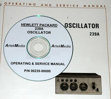 HP 239A Oscillator Operating  & Service manual