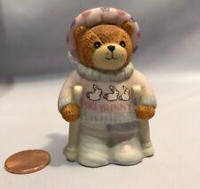 Lucy and Me Christmas Bear Girl Hurt Snow Bunny Ski Figures Enesco 1990 H7