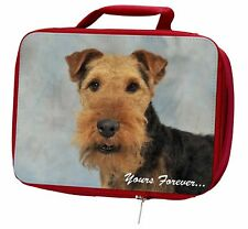 More details for welsh terrier 'yours forever' insulated red school lunch box/picnic , ad-wt1ylbr