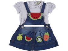 Mädchen  Baby Jeans Kleid Latzkleid Mit Shirt Gr. 62
