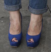 Nuevo Mujer Damas Tacón Alto Plataforma Corte Peep Toe Zapatos De Salón Size UK 6 EU 39