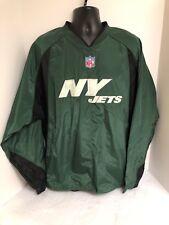 NY Jets NFL Team Apparel Onfield Reebok Green Pullover Windbreaker Jacket LARGE