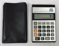 Vintage Retro Electronic Calculator Casio Jl-820 8 Digit With Case