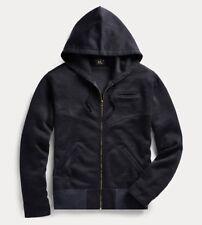 $345 RRL Ralph Lauren Vintage Inspired US Naval Navy Seal Fleece Hoodie-MEN- M