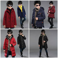 BOYS Winter Coat WARM Jacket Jumper Snowsuit Puffer Hooded Size 3-16 Years Old