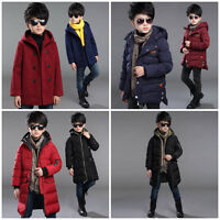 BOYS Winter Coat WARM Jacket Jumper Snowsuit Puffer Hooded Size 3-16 Years Old